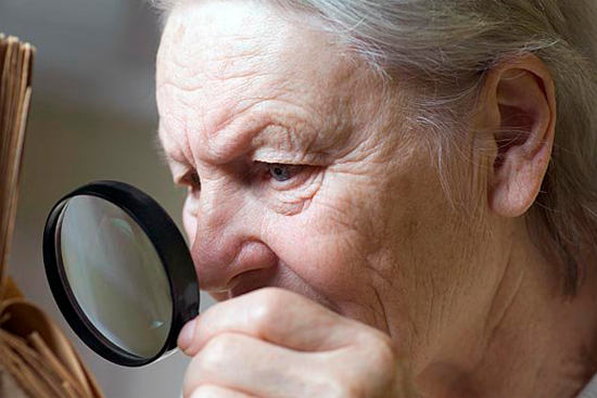 Нарушение зрения в пожилом возрасте