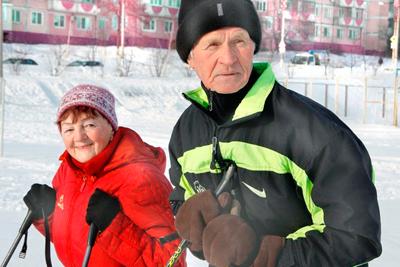 Катание на лыжах в пожилом возрасте
