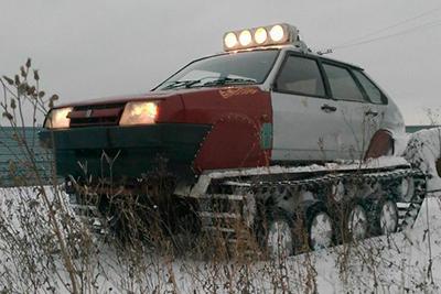 Омский автоэлектрик создал свой вездеход