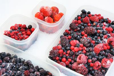 Заморозка собранных плодов